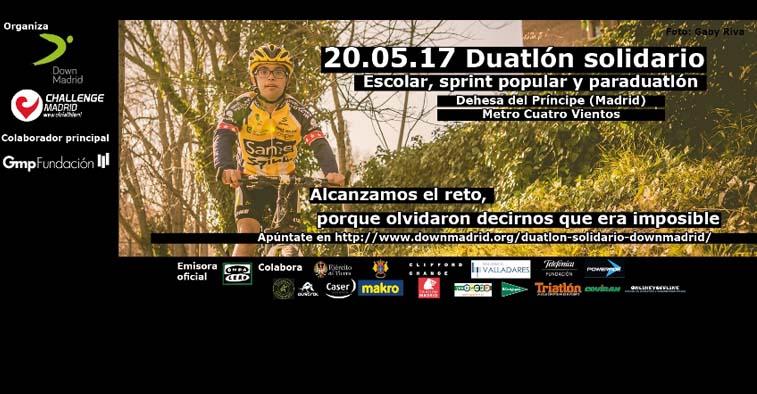 Cartel informativo Duatlón Down Madrid