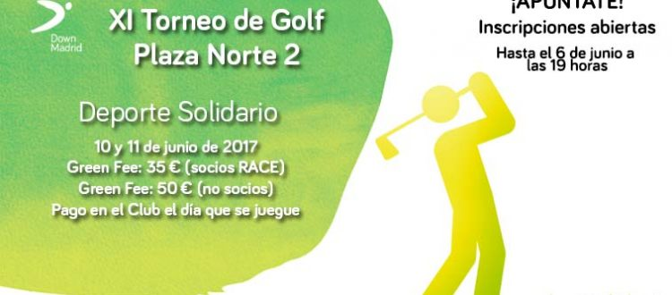 Cartel del Torneo de Golf de Down Madrid