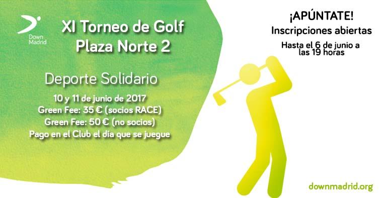 Cartel del Torneo de Golf de Down Madrid