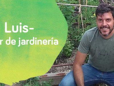 Luis del Taller de jardinería del centro ocupacional de Down Madrid