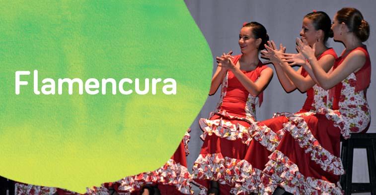 Cartel de flamencura, la fiesta flamenca de Down Madrid