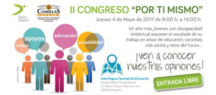 Cartel del congreso por ti mismo de Down Madrid