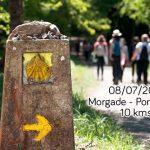 Cartel de etapa del camino de Santiago