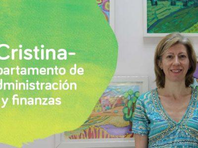 Cristina, del departamento de Administración y finanzas de Down Madrid