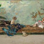 los hijos del pintor en el salón japonés Concurso Pintura Down Madrid
