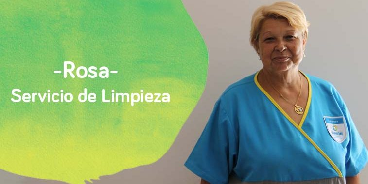 Rosa limpiadora de Down Madrid en la foto de la entrevista