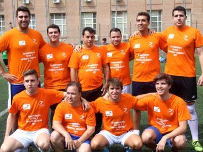 Equipo ganador de campeonato de empresas solidarias Down Madrid