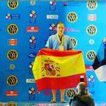 Camino socia de Down Madrid con grandes retos en natación conseguidos.