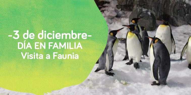 Cartel de turismo en familia de Down Madrid a Faunia