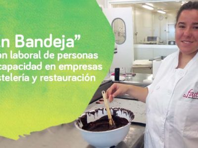 Joven con discapacidad integrada en el ambiente laboral de restauración gracias a Down Madrid