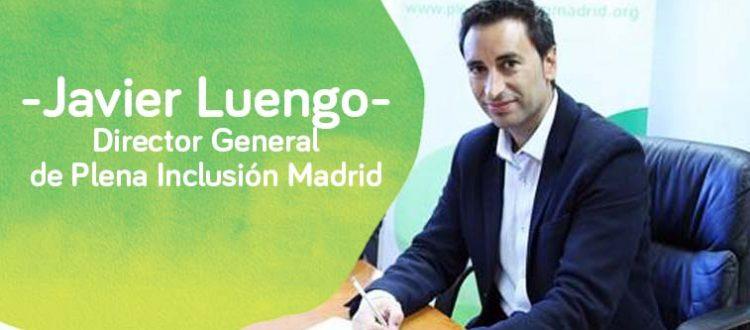 Aparece Javier Luengo Dr. General de Plena inclusión Madrid sentado en la oficina