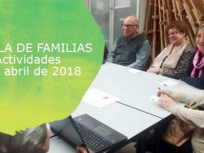 Actividades de escuela de Familias de Down Madrid para abril 2018