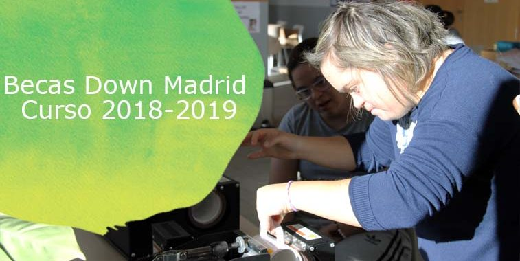 Cartel de becas Down Madrid curso 2018-2019