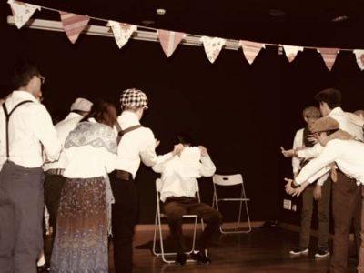 Alumnos de teatro de Down Madrid en la representación