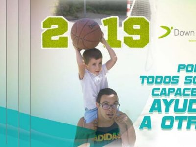 Portada del Calendario Solidario 2019 de Down Madrid