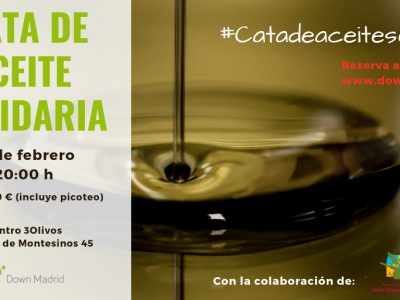 Cata de aceite solidaria Down Madrid
