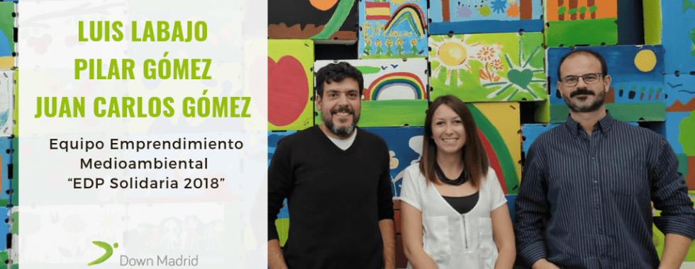 """Coordinadores del proyecto de emprendimiento medioambiental """"EDP Solidaria 2018"""""""