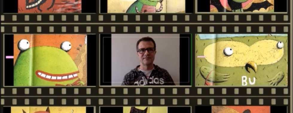 Miguel Ángel, voluntario de Iberdrola contando un cuento online