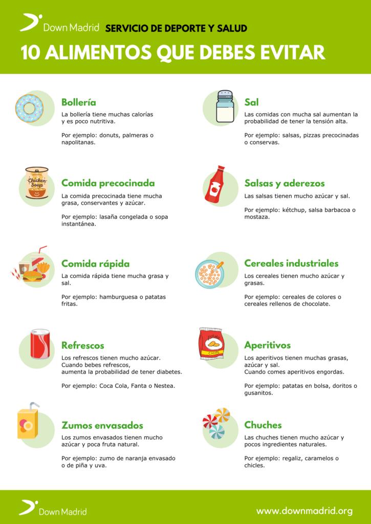 Alimentos para evitar