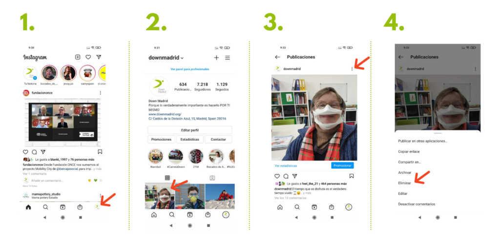 Borrar publicaciones en instagram